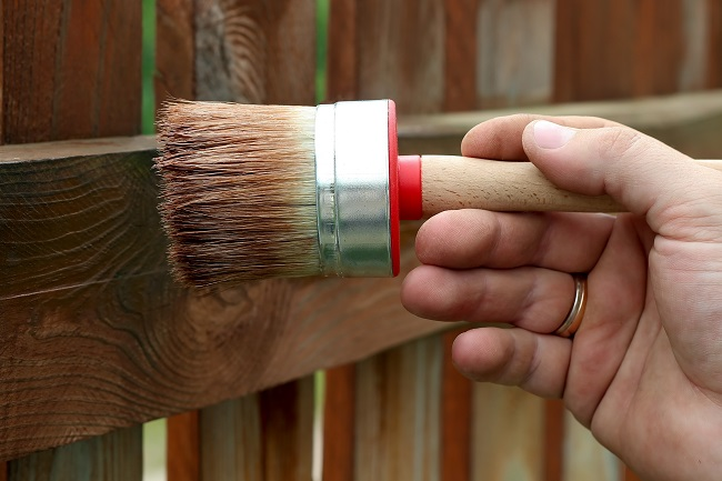 A Newly Stained Fence Will Update the Look of Your Property